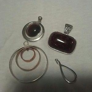 4 necklace pieces